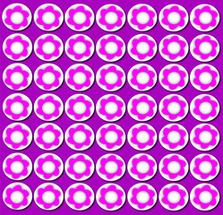 flowers pattern on round purple texture