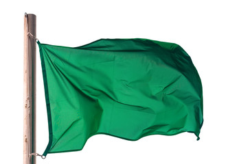 Green flag. Isolated