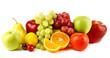 Leinwanddruck Bild - Ripe fruits isolated on white background