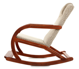 Modern rocking-chair isolated on white