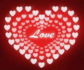 Love heart illustrations.