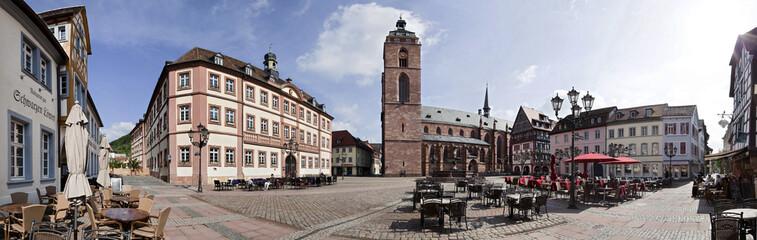 Marktplatz Neustadt an der Weinstrasse Panorama