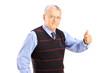 Senior gentleman giving thumb up