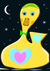 Pato de goma nocturno