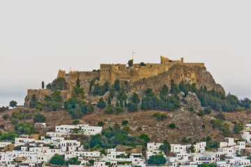 Old Greek city located under the mountain.