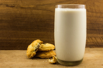 Cookies with fresh milk