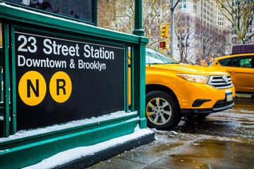 New York City Street and Subway Scene
