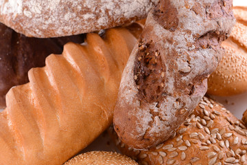 Different bread close-up