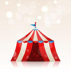 Open circus stripe entertainment tent