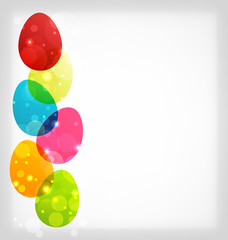 Easter colorful eggs with space for your text