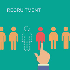 recruitment and human resource infographics template with space