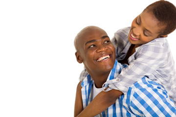 young loving african couple