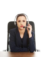 Anoyed support phone operator