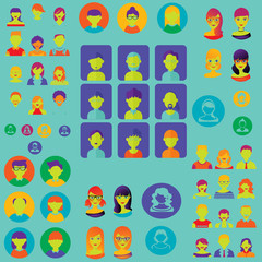 people avatars collection science