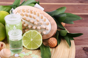 Spa composition with lime