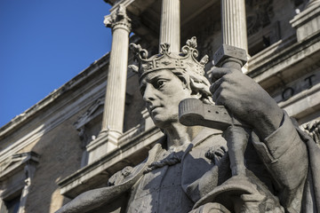 Spanish King, National Library of Madrid, Spain. architecture an
