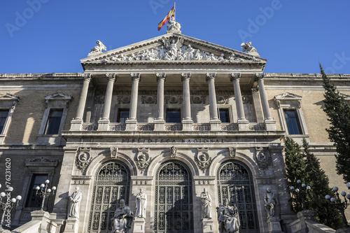 Zdjęcia na płótnie, fototapety, obrazy : Main entrance, National Library of Madrid, Spain. architecture a