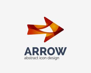 Clean moden wave design arrow logo