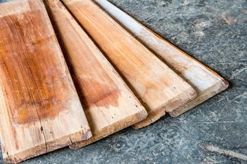 teak wood board on the ground