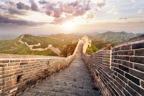 Foto op Aluminium Beijing skyline and great wall during sunrise
