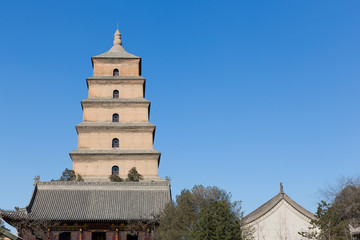 Giant Wild Goose Pagoda in southern Xi'an, Shaanxi province, Ch