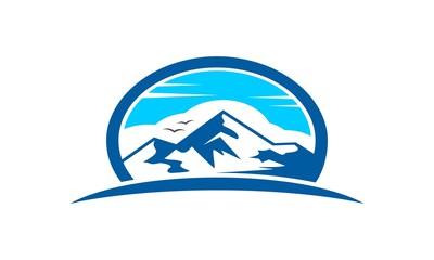Blue Mountain Logo Template V.2