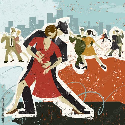 Obraz na Szkle Dancing the Tango