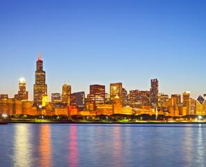 Chicago Illinois USA, panorama of city skyline