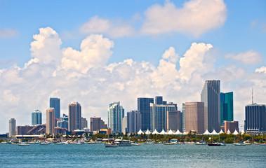 City of Miami Florida, summer panorama