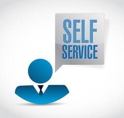 self service avatar sign illustration