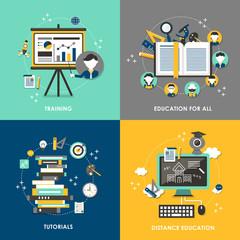 education concept illustration in flat design