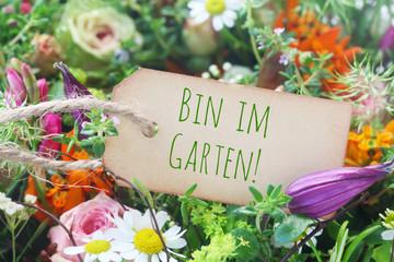 Bin im Garten!