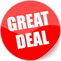 étiquette great deal