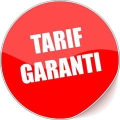 étiquette tarif garanti