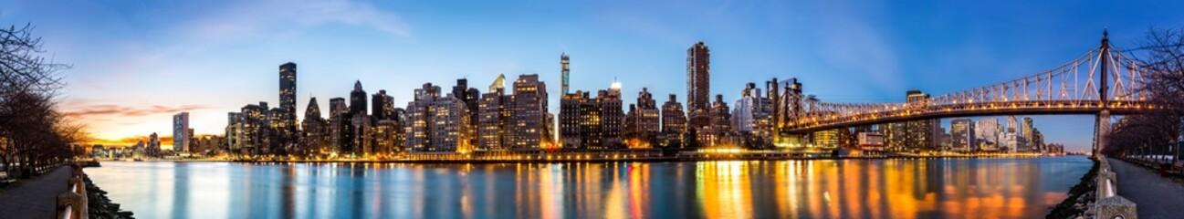 Manhattan panorama and Queensboro bridge