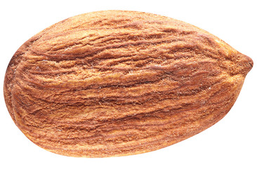 Almond with leaves isolated.