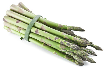 Asparagus over white.