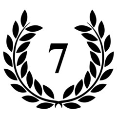 Lauriers 7 sur fond blanc