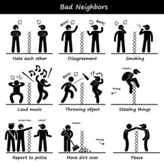 Bad Neighbors Pictogram