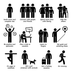 How to be a Happier Person Pictogram