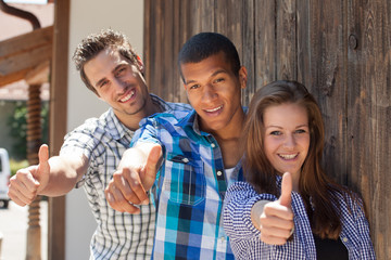 Group of teenager - thumbs up