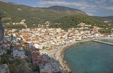 parga greek tourist resort