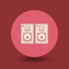Speakers symbol, vector