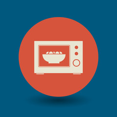 Microwave symbol, vector