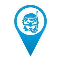 Icono localizacion buceadora