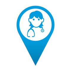 Icono localizacion doctora