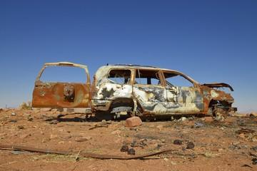 Schrottauto in der Namib