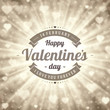 Happy Valentine's day Greeting Card and Bokeh