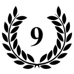 Lauriers 9 sur fond blanc