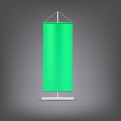Green advertising stand. Blank vector illustration.
